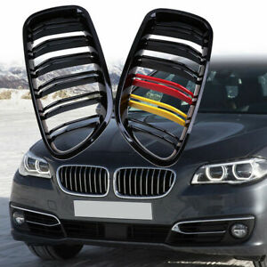 Details About Matte Black Front Kidney Grilles Grill For Bmw 5 Series F10 Sedan M5 F11 Touring