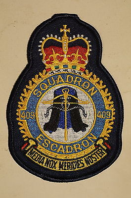 RCAF CAF Canadian 420 Squadron Heraldic Colour Crest Patch