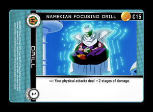 Dragon Ball Z DBZ CCG TCG Custom Panini Proxy 15 Namekian Focusing Drill