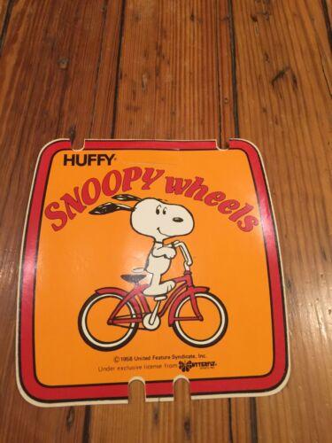 1958 droit d/'auteur-BMX NEW OLD STOCK Huffy Snoopy roues # PLAQUE DECAL-United Arachides