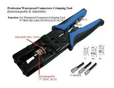 Coaxial Cable Compression Crimp Tool For RG58/59/6 (F, BNC, RCA)
