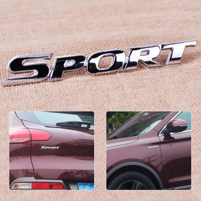 HOT Sports Logo 3D Metal Chrome Car Sticker Badge Emblem Decal
