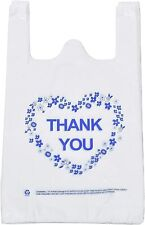 Lazyme Thank You T Shirt Carry Out Bags Plastic Grocery White Sturdy
