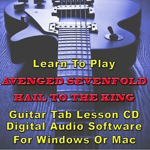 Details about AVENGED SEVENFOLD Hail To The King Album Guitar Tab Lesson CD  Software