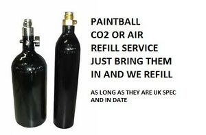 Details about PAINTBALL REFILL SERVICE    AIR BOTTLE OR CO2 TANK REFILL  (BOTTLE NOT INCLUDED)