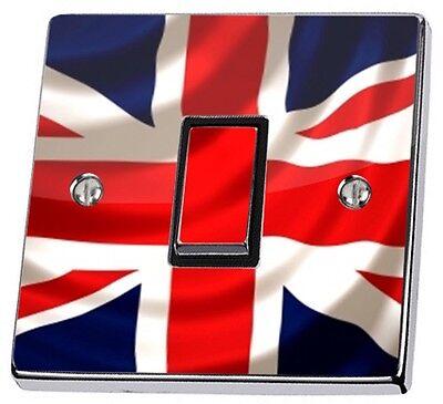 Union Jack UK British Flag Light Switch Sticker vinyl cover skin decal GB stika