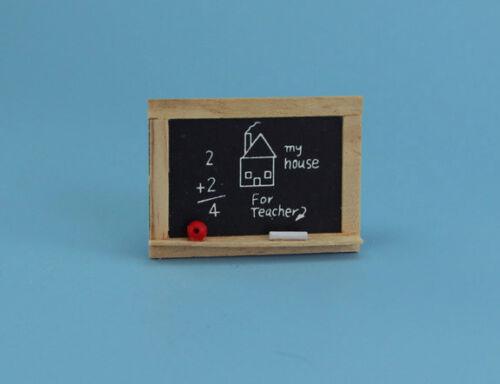 Cute Little Dollhouse Miniature Childrens Chalkboard 1:12 Scale #D2318-67