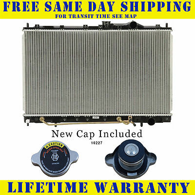 Radiator With Cap For Eagle Mitsubishi Plymouth Fits Summit Mirage Colt 1393WC