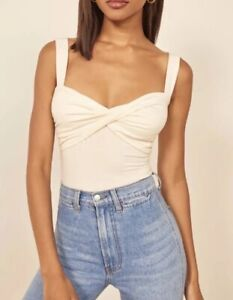 Nwt-Reformation-Ivory-Anine-Cropped-Top-Summer-Tank-Size-Small