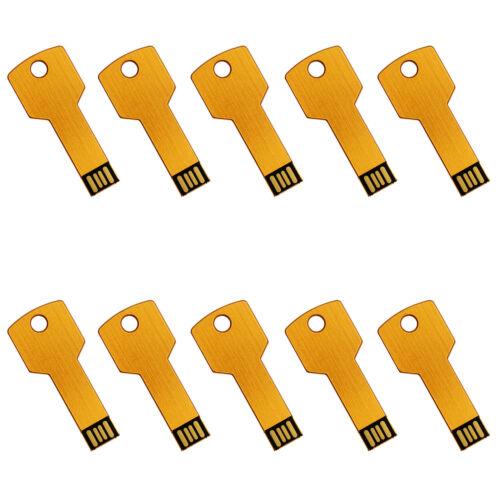 10pcs 1GB 2GB 4GB Metal Key US Stock USB 2.0 Flash Drive StorageMemory Stick