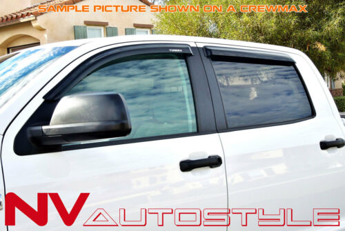 07-19 Tundra Double Cab Extended Side Window Sun Deflectors Visors Vents Guards
