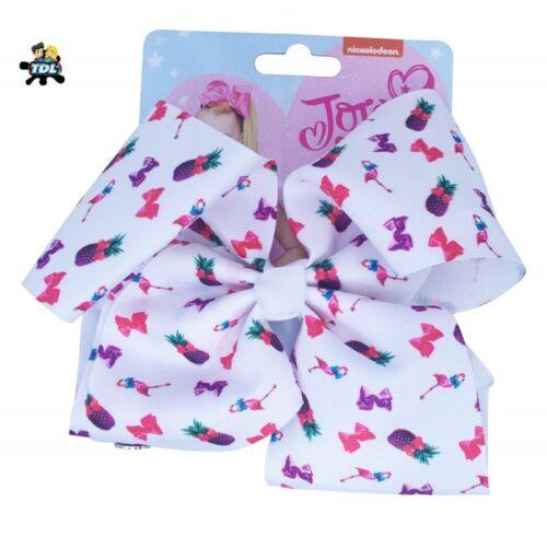 100/% Official Girls JoJo Siwa Large Signature Patterned Bow  Tropical JoJo Bow