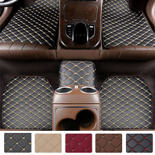 5pcs Leather Car Floor Mats Universal Fit Waterproof Frontamprear Non Slip Carpets Fits 2012 Toyota Corolla