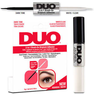 NEU-DUO-2-in-1-Brush-On-Clear-amp-Dark-Adhesive-DUO-Wimpernkleber-2-in1-Transp