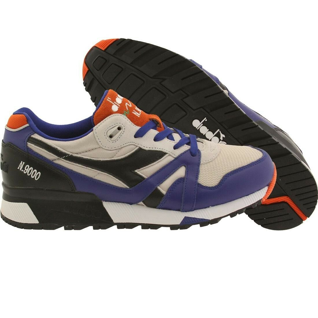 .00 Diadora Men N9000 L-S blue orange wind gray 162018C6006