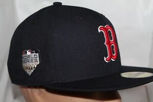 Boston-Red-Sox-New-Era-MLB-2018-World-Series-Champs-Patch-59fifty-Cap-Hat-NEW