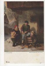 H Rhomberg Der Schlittenschnitzer Vintage Postcard 261b