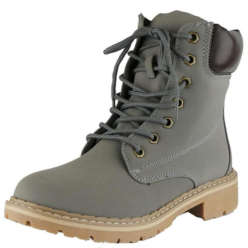 Cambridge Select Women's Work Combat Military Mid Calf Lug Sole Boot
