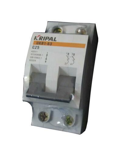 Leitungsschutzschalter UKB1 2P C25A Sicherungsautomat MCB