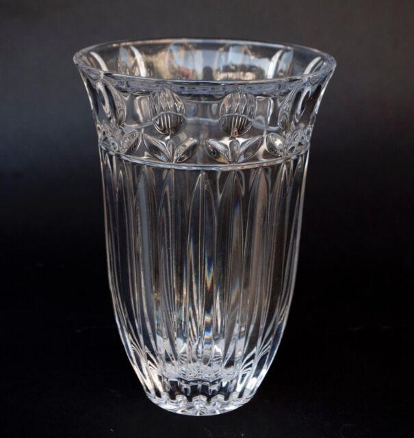 Block Crystal Vase Tulip Garden 9 Inch Vgc Ebay