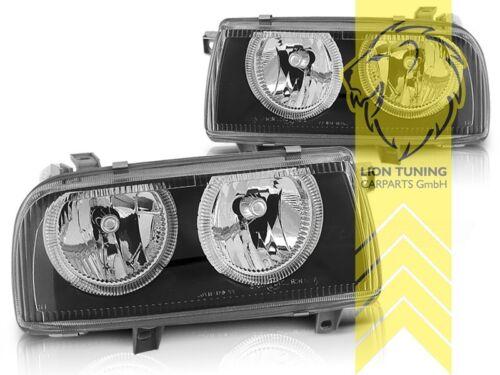 DEPO Angel Eyes Scheinwerfer für VW Vento schwarz