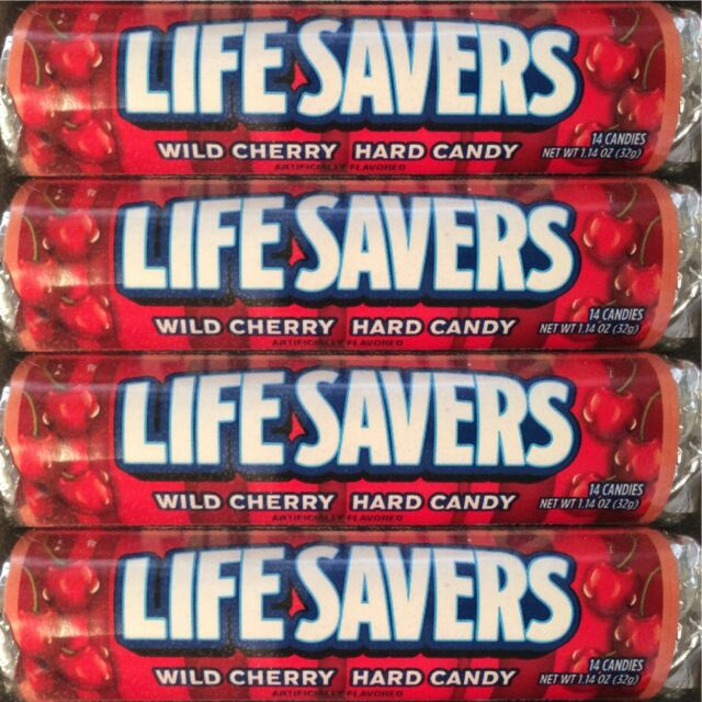 Lifesavers Wild Cherry Candy 20 Rolls  14 Pieces per Roll  Free Shipping