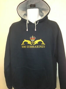 a828d6f3b Royal Navy HM Submarines Embroidered Hooded Sweatshirt Hooded ...