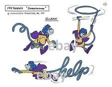 Super Friends GLEEK FULL BODY MODEL SHEET PRINT B Hanna Barbera Cartoon 'Help'