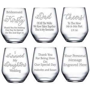 Personalised Engraved Birthday Wine Glass Father/'s Day Wedding Bridesmaid