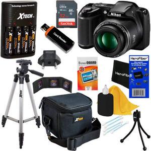Nikon-COOLPIX-L340-20MP-Digital-Camera-28x-Zoom-amp-Full-HD-Video-Chrgr-32-GB-Kit