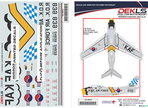 1-48-F-86-Sabre-ROKAF-Black-Eagles-Aerobatic-Team-039-Yellow-Nose-039-Decals