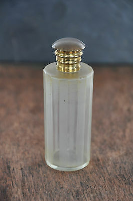 Vintage Unique Long Cylindrical Glass Perfume Bottle Collectible Ebay