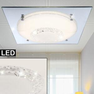 Luxus Led Soffitto Illuminazione Lavoro Camera Cristallo Vetro Specchio Faretti Ebay