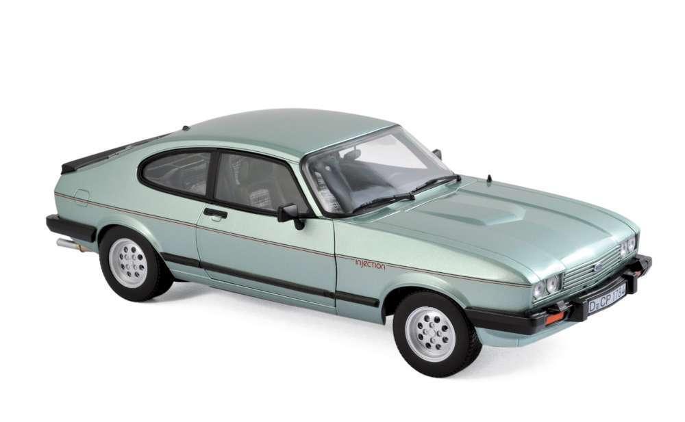 NOREV 182719 Ford Capri MkIII 2.8 Modèle Route Voiture Crystal vert Met 1982 1 18th
