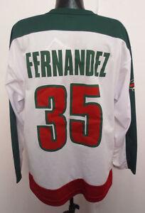 lowest price ea46d 4d5ec Details about MINNESOTA WILD MANNY FERNANDEZ JERSEY VINTAGE RETRO VTG OFF  THE BENCH NHL HOCKEY