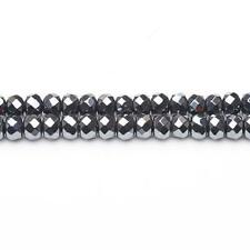 Faceted Rondelle Beads 5x8mm Grey 65 Non Magnetic Pcs DIY Jewellery Hematite