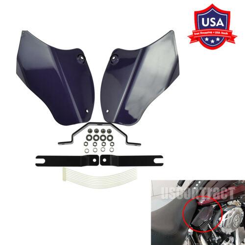 Smoke Reflective Saddle Heat Shield Air Deflectors Fit For Harley Softail 00-17