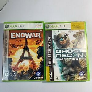Tom-Clancy-039-s-EndWar-Ghost-Recon-Xbox-360-Game-Lot-Tested