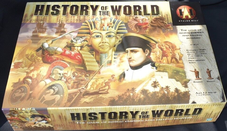 History Of The World 2001 Board Game Avalon Hill