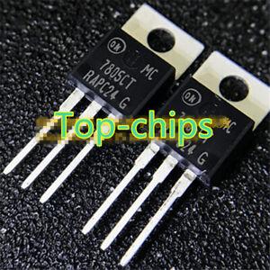 10PCS-Original-MC7805CTG-MC7805CT-nuevo-TO-220-regulador-de-tres-terminales