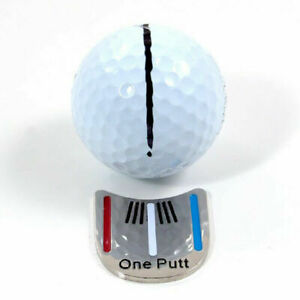 MAGNETIC-HAT-CLIP-with-034-One-Putt-034-GOLF-BALL-MARKER-New-J0M7