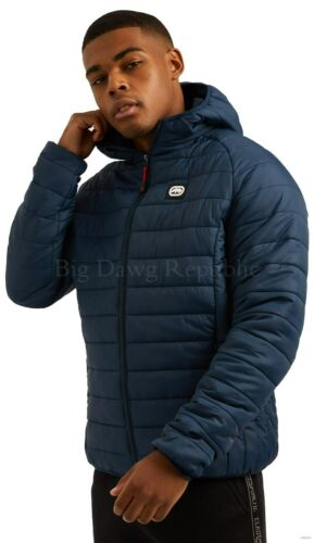Ecko Men/'s Padded Puffer Hooded Jacket New Hip Hop Star Era 3 Is Time Money