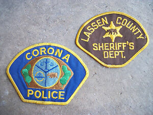 vintage Lassen County Sheriff's Dept Corona California Police patch lot