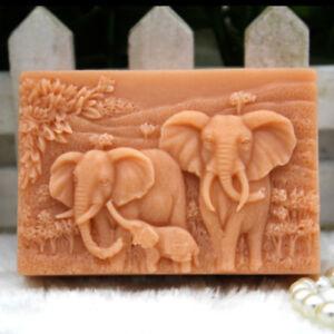 Silicone-Carre-Moule-a-Savon-Elephant-Gateau-Patisserie-Chocolat-Artisanat-DIY