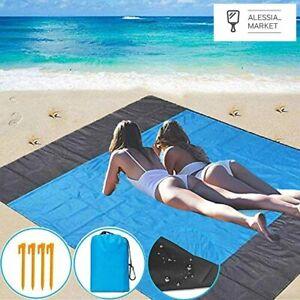 HOOMBOOM Coperta da Spiaggia Picnic, 210x200cm Anti Sabbia Impermeabile Portatil