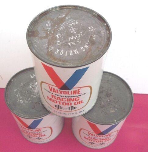 Vintage Valvoline Racing Motor Oil 3 cans