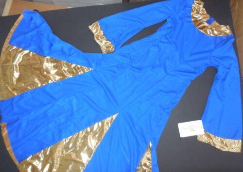 NWT Praise dress Long Bell Sleeve Gold Insets /& trim zipperback 85059 Adlt//Child