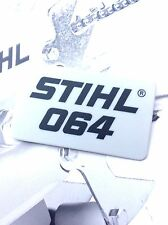 Genuine Stihl Motosega MS 064 modello BADGE Plate 1122 967 1503 PARTI RICAMBI