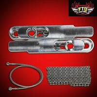 2000 Gsxr 750 Swingarm Extensions Kit 12 Long Stretch, Chain & 36 Brake Line