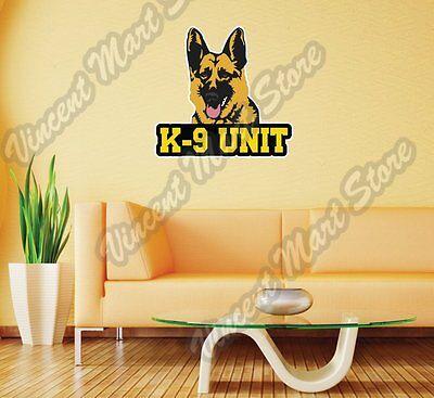 K1169 K9 K-9 Unit German Shepherd Heartbeat Dog Decal Sticker SAR Drug Law Badge